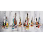 East Urban Home, Dreaming of Sailing Away Painting Print on Canvas - RRP £219.99 (EUCK9589 - 20609/