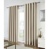 17 Stories, Charleena Eyelet Curtains (168X137CM)(NATURAL) - RRP £42.99 (EANS1034 - 21605/39) 1B