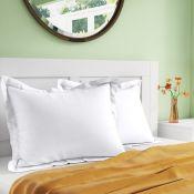 Zipcode Design, Tebikerei 100% Cotton Envelope Oxford Pillowcase (Set of 2) (WHITE) - RRP £7.64 (