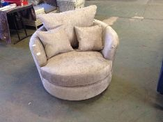 GREY PATTERNED SWIVELLING CHAIR (KM28-K92)