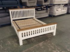 Hampshire White 5ft King Size Bed Frame (I38 -HP-5