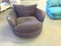 CHARCOAL SWIVELLING SNUG CHAIR (RETURN) (KM28-K290