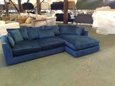 BLUE VELVET 2 PART CORNER (SMALL RIP ON SOFA) (WM2