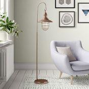 Borough Wharf, Daemon 157cm Arched Floor Lamp (COPPER) - RRP £111.99 (DLI7641 - 21413/19) 1C