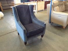 TEAL FABRIC ACCENT CHAIR TR002135 W00880048
