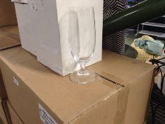 BOX OF APPROX 24 ACHICA GLASSES (NOT CHECKED)