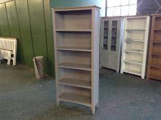Malvern Shaker Grey Painted OakBookcase (LOOSE BACK)(I49 -EV02-88)