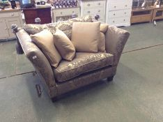 GOLD PATTERNED KNOLL END SNUG CHAIR HH25-668800-29