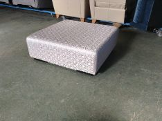 SILVER PATTERNED LARGE FOOT STOOL HH25-680297-4
