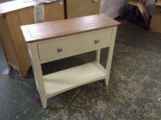 Malvern Shaker Ivory Painted Oak Hall Table (I62 -EV12-89)