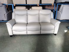 OFF WHITE ELECTRIC RECLINING 3 SEATER TR002129 W00