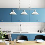 Ophelia & Co., Almont 3-Light Kitchen Island Pendant (SATIN SILVER) - RRP £134.99 (SRL4903 - 16577/