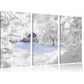 Pixxprint,Romantic Winter Landscape Painting Print (13254/29 -EXXP5334#http://EXXP5334#)(BOXED, NOT