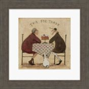 East Urban Home,Tea for Three' by Sam Toft Framed Print (13254/28 -CACA7640)(BOXED, NOT CHECKED)