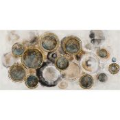 East Urban Home,Natural Bubbles Acrylic Painting Print on Canvas RRP (13254/15 -EUBH6198) (BOXED,