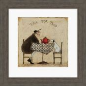 East Urban Home,Tea for Two' by Sam Toft Framed Print (13254/20 -CACA7641)(BOXED, NOT CHECKED)