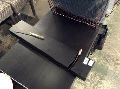 | 1x | Made.com Stanton Slim Rectangle Pendulum Bob Clock Brushed Brass RRP £39 | SKU MAD-