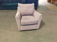 LILAC FABRIC SWIVELLING CHAIR (DISCOLOURED) TR0021
