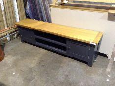 Hampshire Blue Painted Oak Large TV Unit (CH-M21 -