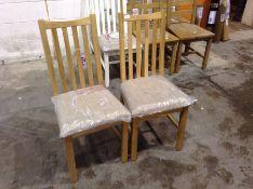 2 X Gloucester Oak Fabric Seat Dining Chair (CH-M4