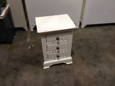 Banbury White Painted Small Bedside Table (CH-M58