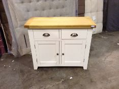 Hampshire White Painted Oak 2 Door Small Sideboard