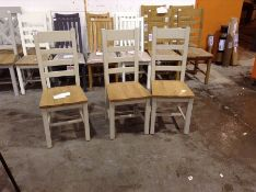 Chester Grey Painted Slat Back Dining Chair With F