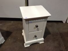 Banbury White Painted Small Bedside Table (CH-M62
