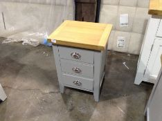 Suffolk Grey Painted Oak Large Bedside Table (CH-M