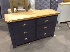 Hampshire Blue Painted Oak 6 Drawer Chest (CH-M15
