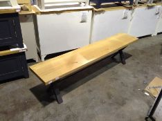 Urban Industrial Oak 1.3m Bench (CH-M27 -IE-13BEN)