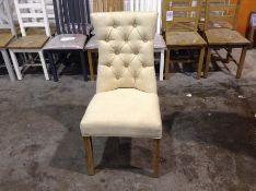 1 X Regent Beige Luxury Dining Chair With Studs (C