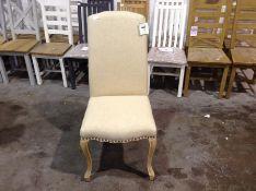 Regent Beige Luxury Dining Chair With Studs (CH-M2