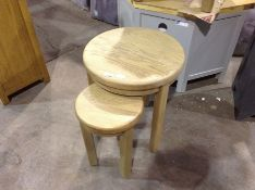 Wessex Smoked Oak Round Nest of Tables (CH-M59 -HO