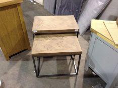 Industrial Oak Nest of Tables (CH-M7 -IB-N2T)