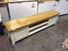 Hampshire Ivory Painted Oak Extra Large TV Unit (C