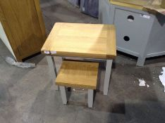 Hampshire Grey Painted Oak Nest of 2 Tables (CH-M8