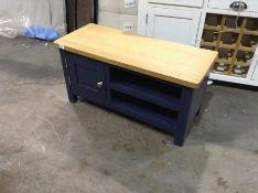 Hampshire Blue Painted Oak Large TV Unit (CH-M25 -