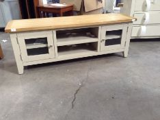 Chester Grey Painted Oak Large TV Unit (CH-M4 -NC-