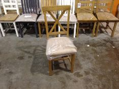 Rutland Oak Fabric Seat Dining Chair (CH-M35 -RAO-