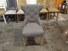 1 x GREY UPHOLSTERED DINING CHAIR (CHM-32A )