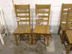 X 2 Oak Ladderback Chair With Wooden Seat (CH-M53