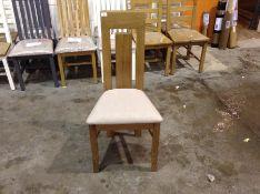 1 X Oslo Oak Dining Chair (CH-M33 -ML 17)