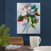 East Urban Home, Spring Lily Flower Painting Print on Wrapped Canvas (ROLLED UP) - RRP £86.99 (