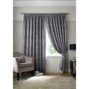 Three Posts, Bettrys Pencil Pleat Room Darkening Curtains (117 X 183CM / SILVER) - RRP £32.77 (