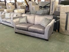 GREY SADDLE 3 SEATER BED SETTEE HH29-705881-80 (RE
