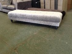 SILVER FABRIC LARGE BENCH STOOL HH29-724042-18