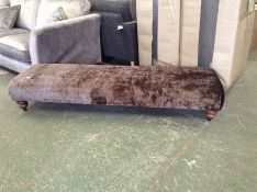 BROWN FABRIC LARGE BENCH STOOL HH29-723719-19