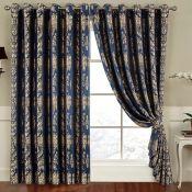 Three Posts, Carnot Eyelet Room Darkening Curtains (230CM X 274 / SANDRA BLACK) - RRP £75.99 (