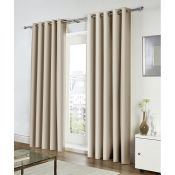 Zipcode Design, Koblowska Eyelet Curtains (NATURAL / 168CM X 137CM) - RRP £48.99 (EANS1034.